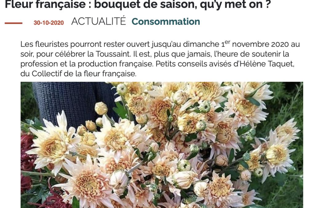 Terres et Territoires – Fleur française : bouquet de saison, qu'y met on ?