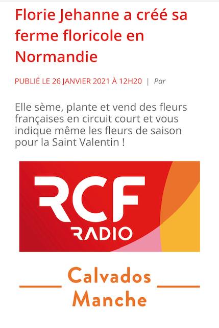 Interview de Florie Jehanne sur RCF Radio Cavados Manche